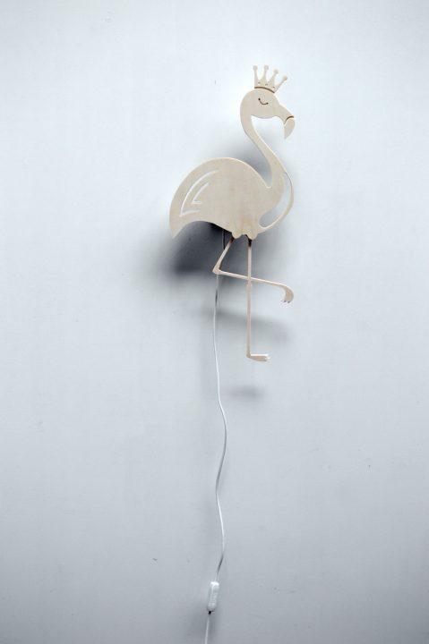 Wandlampje flamingo 02