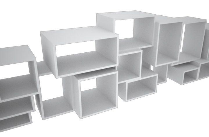 Stapelkast in het wit